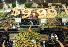 Olive bar at Whole Foods.JPG