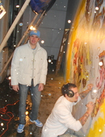 Painting mural at Wann.JPG