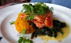 Salmon on Swiss chard.JPG