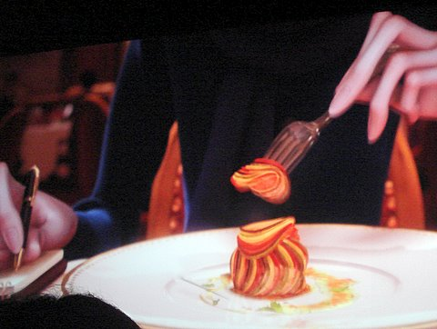 Tasting the ratatouille.JPG