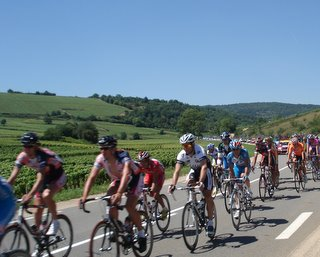 Tour de France zooms through Burgundy.JPG