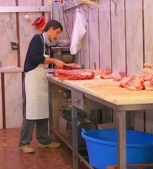 Butcher at work.JPG