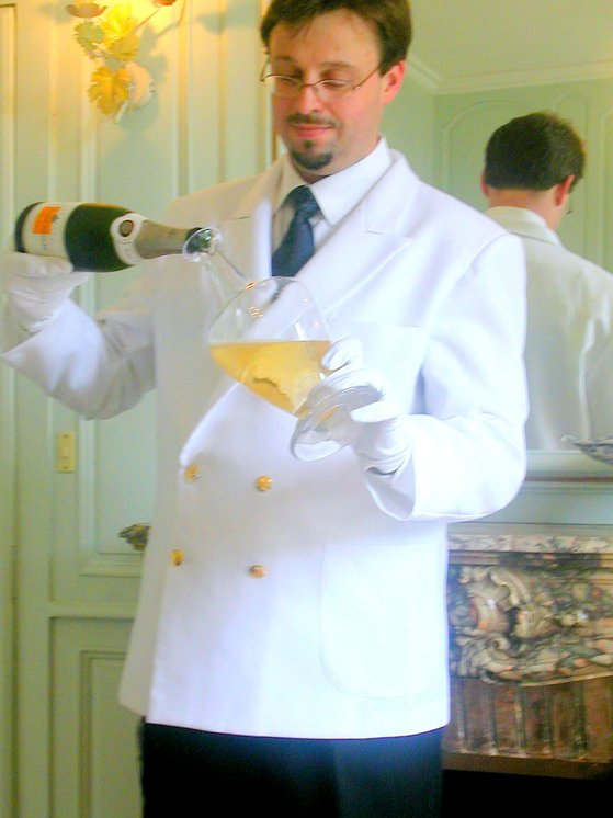 Decanting the Rich Reserve at Veuve Clicquot1.JPG