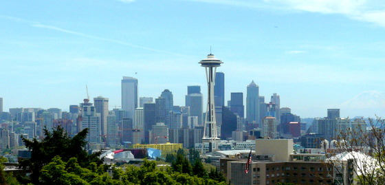 Skyline w Needle, Rainier.JPG