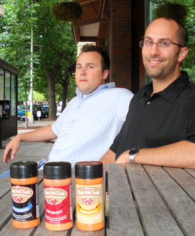 Bacon Salt creators Justin and Dave.JPG