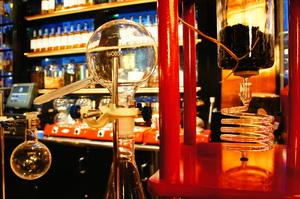 Sanctifier apparatus on bar.JPG