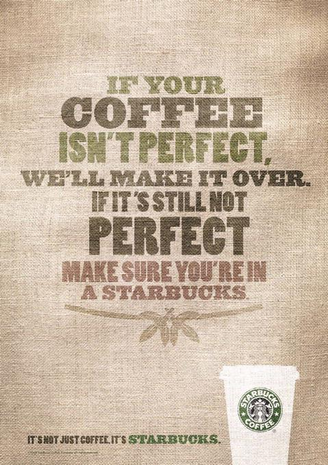 starbucks coffee ad